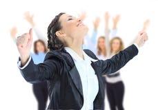 Gente di affari, donna piacevole Fotografia Stock Libera da Diritti