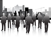 Gente di affari e città Fotografia Stock Libera da Diritti