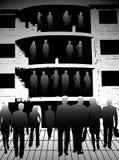Gente di affari e costruzione Fotografia Stock