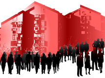 Gente di affari e costruzioni Fotografie Stock Libere da Diritti