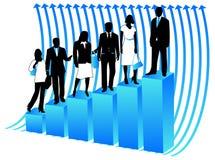Gente di affari e grafico Fotografie Stock