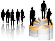 Gente di affari e grafico illustrazione vettoriale