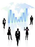 Gente di affari e grafico Immagini Stock Libere da Diritti