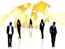 Gente di affari e grafico Immagine Stock