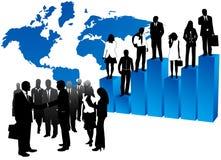 Gente di affari e mappa Fotografia Stock Libera da Diritti