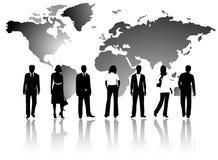 Gente di affari e programma Fotografia Stock