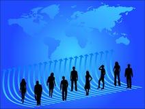 Gente di affari e programma Immagini Stock Libere da Diritti