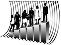 Gente di affari e programma illustrazione di stock