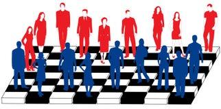 Gente di affari e scacchi Fotografia Stock Libera da Diritti