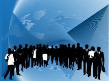 Gente di affari ed estratto Immagini Stock Libere da Diritti