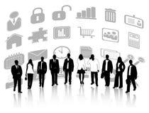 Gente di affari ed icone royalty illustrazione gratis