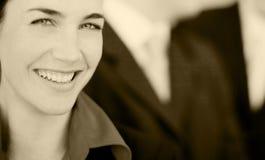Gente di affari felice Fotografia Stock