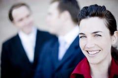 Gente di affari felice Immagini Stock
