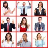 Gente di affari felice del ritratto Fotografia Stock Libera da Diritti
