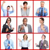 Gente di affari felice del ritratto Fotografia Stock