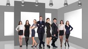 Gente di affari in galleria Fotografie Stock