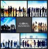 Gente di affari globale della stretta di mano di riunione di concetto di comunicazione Fotografia Stock