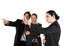 Gente di affari indicare Fotografia Stock Libera da Diritti