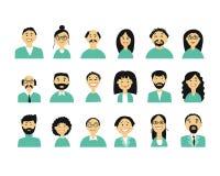 Gente di affari, insieme delle icone semplici per progettazione del ypur Immagine Stock