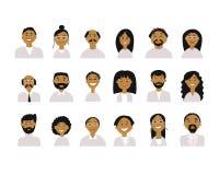 Gente di affari, insieme delle icone semplici per progettazione del ypur Fotografie Stock Libere da Diritti