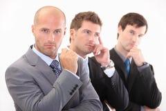 Gente di affari nel pensiero Fotografia Stock Libera da Diritti