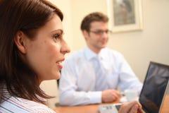Gente di affari nell'azione. Fotografia Stock