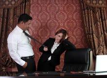 Gente di affari nell'ufficio Fotografia Stock Libera da Diritti