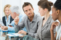 Gente di affari nella riunione Fotografia Stock