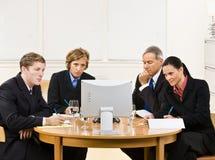 Gente di affari nella video riunione immagine stock libera da diritti