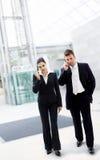 Gente di affari occupata Immagini Stock