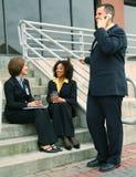 Gente di affari occupata di diversità Fotografia Stock Libera da Diritti