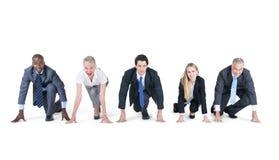 Gente di affari pronta ad iniziare Fotografia Stock Libera da Diritti