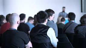 Gente di affari di seminario di conferenza di riunione dell'ufficio di concetto di addestramento stock footage