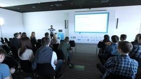 Gente di affari di seminario di conferenza di riunione dell'ufficio di concetto 4k di addestramento stock footage