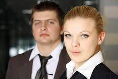 Gente di affari sicura Fotografia Stock