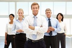 Gente di affari sicura Fotografie Stock Libere da Diritti