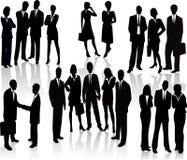 Gente di affari - siluetta di vettore Fotografia Stock