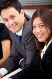 Gente di affari sorridere Fotografia Stock