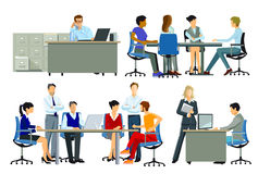 Gente di affari in ufficio illustrazione vettoriale