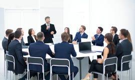 Gente di affari in un auditorium Immagine Stock Libera da Diritti