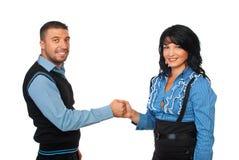 Gente di affari unita che tiene le mani Fotografia Stock