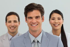 Gente di affari varia che si leva in piedi insieme Immagine Stock Libera da Diritti