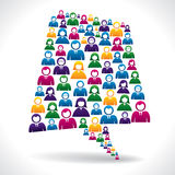 Gente di affari variopinta di concetto di comunicazione illustrazione vettoriale