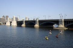 Gente di città in buona salute di vita di Boston fotografia stock libera da diritti