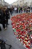 Gente di dolore sul quadrato di Wenceslas Fotografie Stock Libere da Diritti