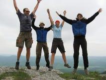 Gente di salto Fotografia Stock