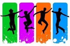 Gente di salto Fotografie Stock Libere da Diritti