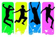 Gente di salto Immagine Stock