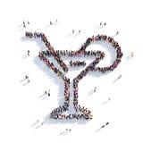 Gente di vetro 3d del cocktail Immagini Stock Libere da Diritti
