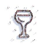 Gente di vetro 3d del vino Immagine Stock Libera da Diritti